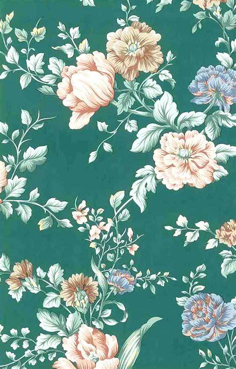 vintage green wallpaper uk english cottage floral vintage wallpaper peach green pink