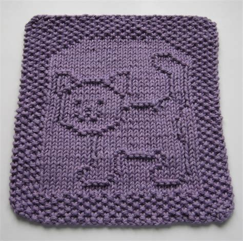 free knit dishcloth patterns knitted cat dishcloth patterns free crochet and knit