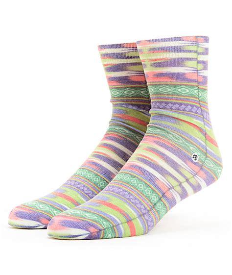 navajo pattern socks stance crazy eights native pattern ankle socks zumiez