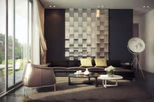 rich palette living with mirrored feature wall interior