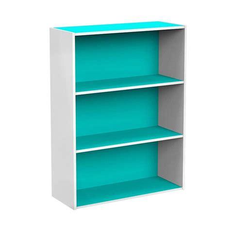 Jual Rak Buku Funika jual funika 11241ltb wh 3 tingkat rak buku biru muda