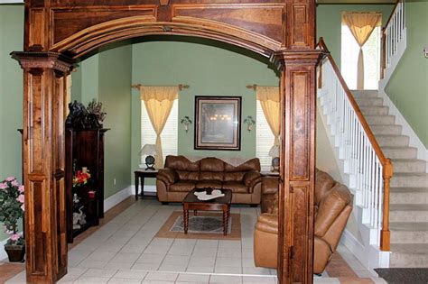 home inside arch model design image an overarching view of an antoine forest estates home on