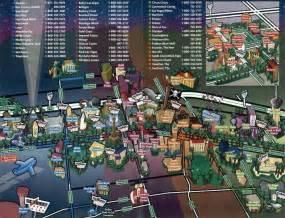 Casino Map Las Vegas by Las Vegas Strip Map And Downtown Las Vegas Fremont Street