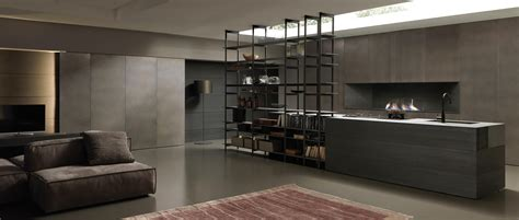 libreria modulnova blade 1 island with shelving unit fitted kitchens from
