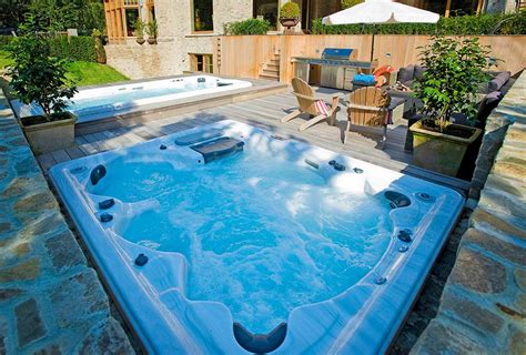 swim spa backyard designs backyard ideas for hot tubs and swim spas