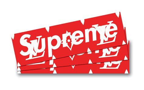 Supreme Louis Vuitton Sticker supreme x louis vuitton box logo
