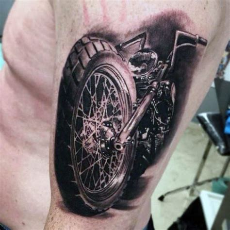 Motorrad Tacho Tattoo by 90 Harley Davidson Tattoos For Men Manly Motorcycle Designs