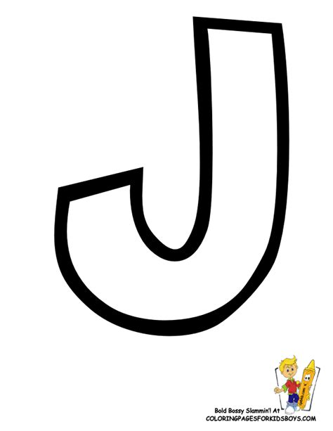 coloring pages letter j letter j template letter j of preschool alphabet