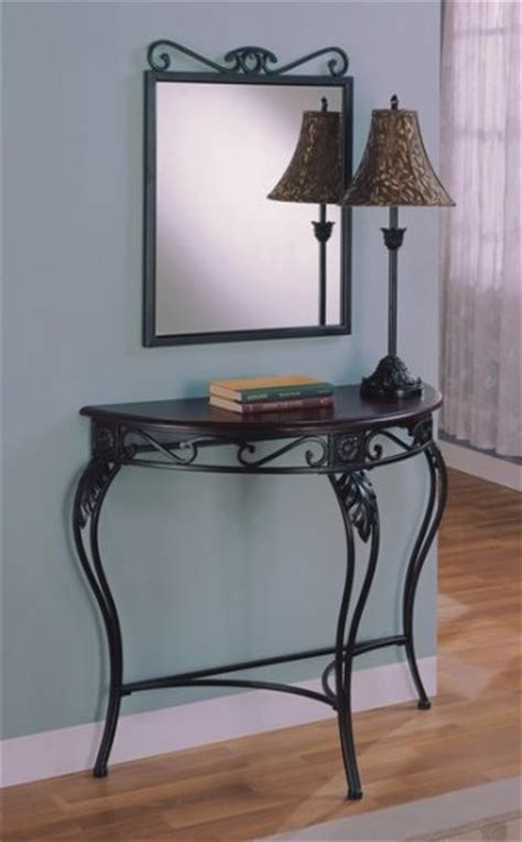 Foyer Table And Mirror Mirror With Foyer Table And L Set Wood And Metal