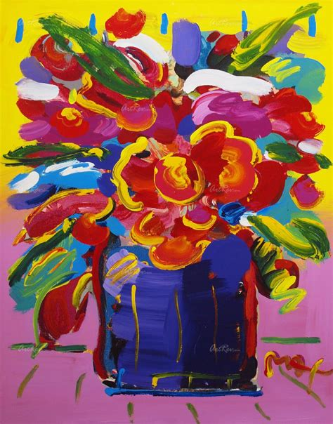 Max Vase Of Flowers by Max Vase Of Flowers Original Acrylic On Paper