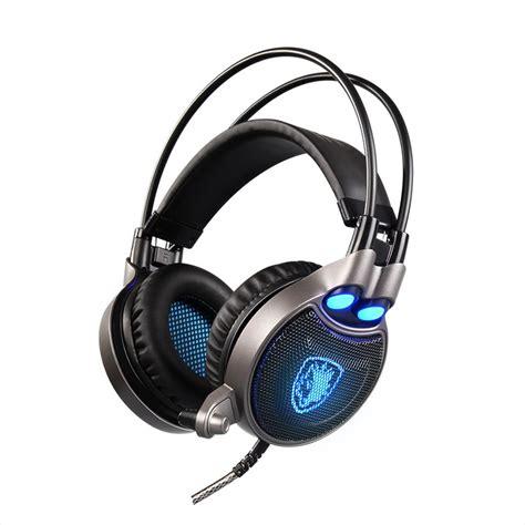 Headset Gaming Imperion G40 Led Light original sades aw70 usb interface gaming headphones ear noise isolating led lights headset