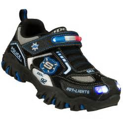 boys skechers lights trainers size uk 4 5 light up