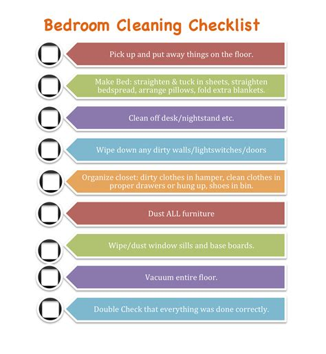 daily bedroom cleaning checklist mommily ever after