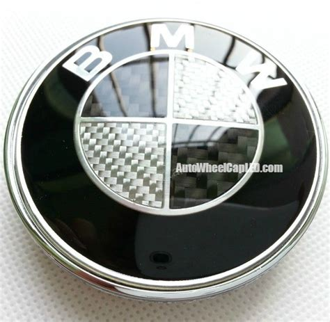 carbon fiber bmw emblem bmw black white carbon fiber 82mm trunk emblem