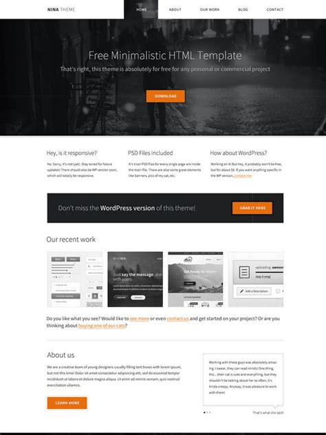 website html template free 40 new and responsive free html website templates