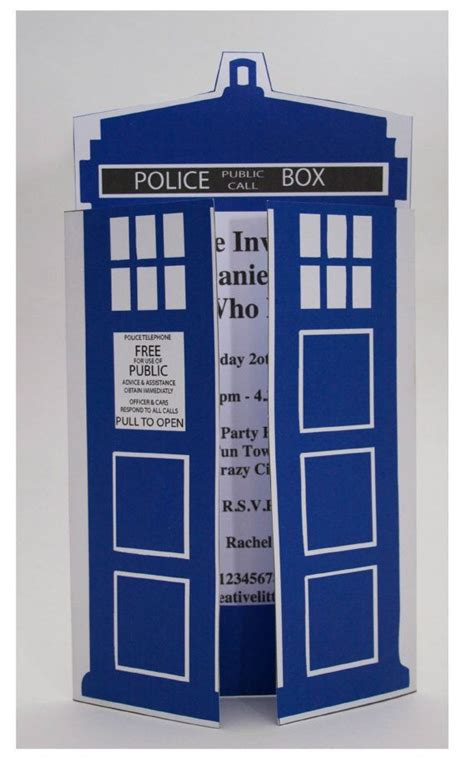 Dr Who Birthday Card Template by Dr Who Ideas Autry Creations