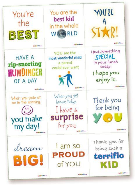 printable lunch quotes lunchbox 1 kids lunchbox surprise notes printable