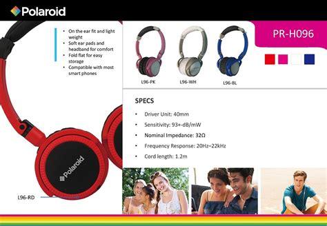 Polaroid H004 Rd Ear Headset pr h096