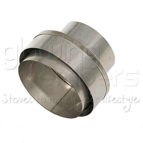 Chimney Liner Stove Adapter - increasing adapter to chimney liner 4 5 163 29 99