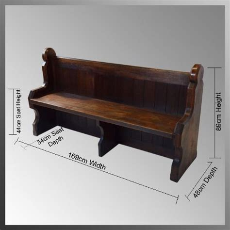 antique church bench pair of oak church pew bench settle seat antique c1850 a