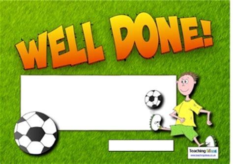 football certificates templates uk football certificate teaching ideas