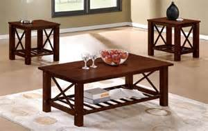 Cheap Brown Coffee Table Black Friday 3pc Coffee Table Set With X Design In Brown Finish Cheap Best Deals