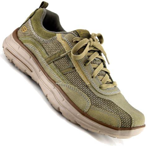 mens memory foam sneakers mens skechers leather relaxed memory foam walking running