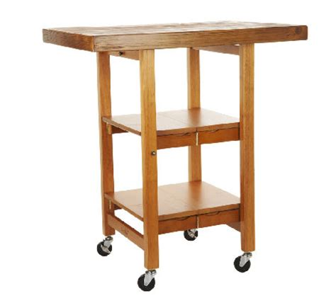 folding island kitchen cart with brushed textured top