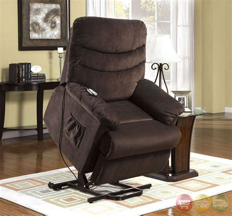 stand up assist recliner perth cocoa brown recliner chair with stand assist power
