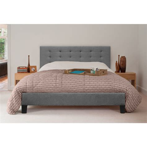 Grey Bed Frame King Kensington King Size Fabric Bed Frame In Grey Buy King Size Bed Frame