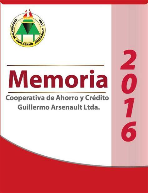 las cooperativas 2016 memoria 2016 by cooperativa guillermo arsenault issuu