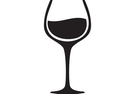 wine glass svg hd wine glass vector black white cdr 187 free vector art
