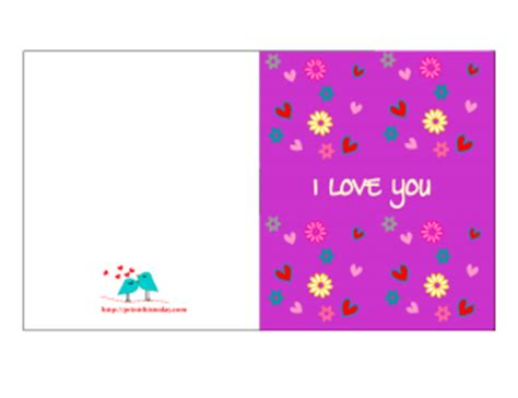 printable card love i love you cards for him