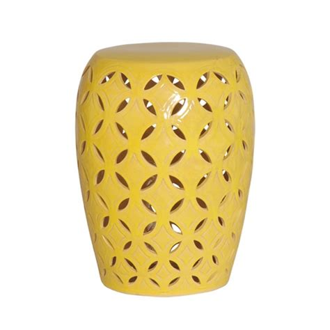 What Is Yellow Stool by Emissary 12780yl Lattice Garden Stool Yellow Small