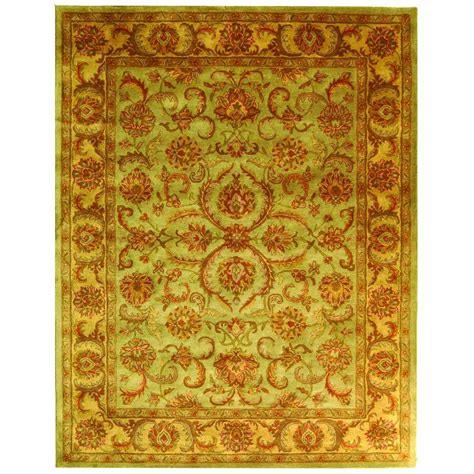 Safavieh Heritage Green Gold 9 Ft X 12 Ft Area Rug 9 Ft Area Rug