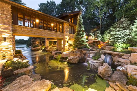 Backyard Usa Homer Glen Pools And Water Features Outdoor Lighting In Chicago Il