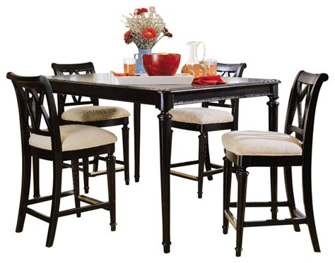 All Black Dining Room Set American Drew Camden 6 Gathering Dining Room