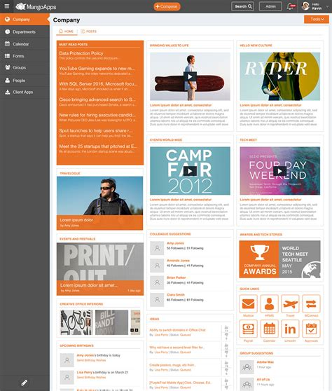 28 intranet portal templates sp intranet portal by sp