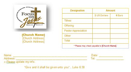 Church Offering Envelope Templates Tithe Envelope Template