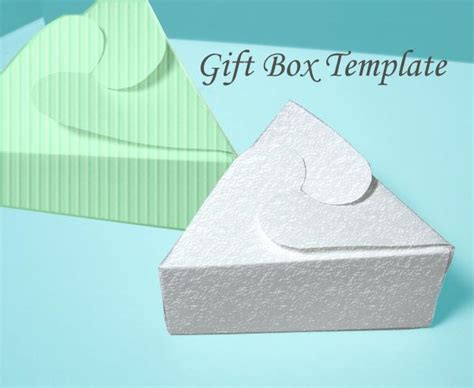 you have to see printable triangular jewelry gift box by