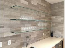 The Glass Shelves Provide A Neutral, Yet Wirkunsvolle Wall ... Ikea Floating Shelves Kitchen