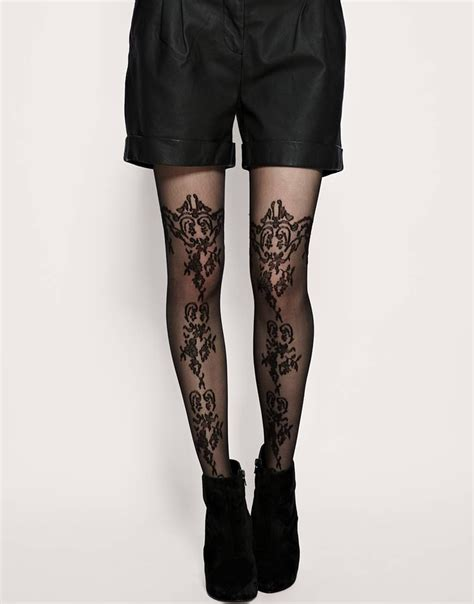 asos patterned leggings asos asos pattern sheer tights at asos