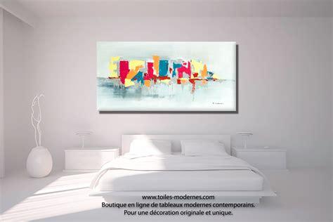tableaux pour chambre tableau fuchsia gris d 233 co design grande toile rectangle