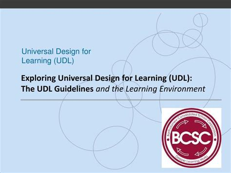design for environment guidelines ppt exploring universal design for learning udl the