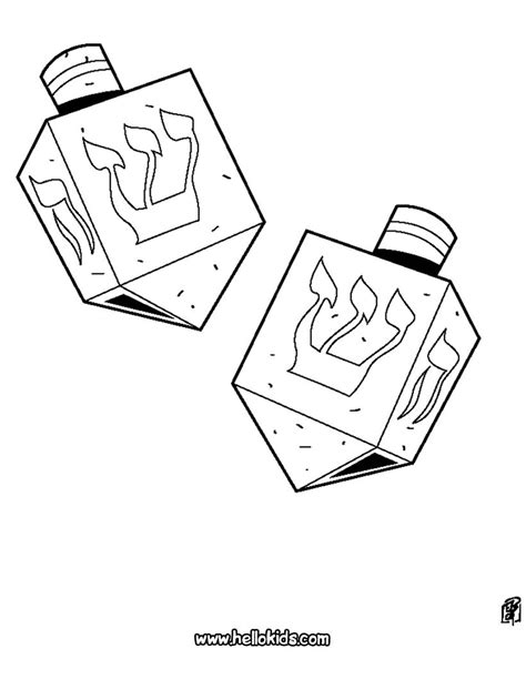 dreidel coloring pages hellokids com