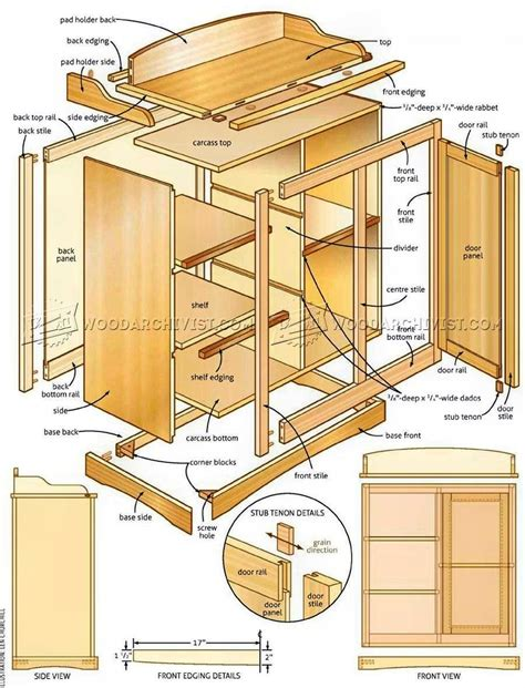 Changing Table Plans Changing Table Plans Woodarchivist