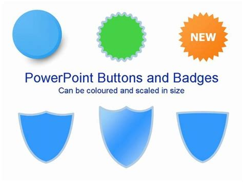 powerpoint layout button powerpoint buttons and badges