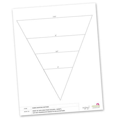 fabric template free fabric bunting pattern