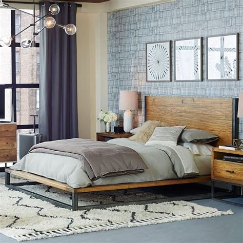industrial bed industrial platform bed west elm