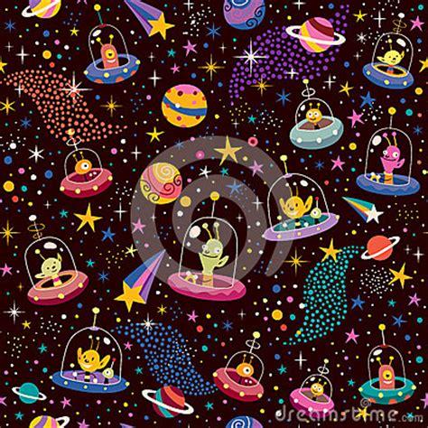 cute alien pattern cute aliens pattern stock photos image 29718483